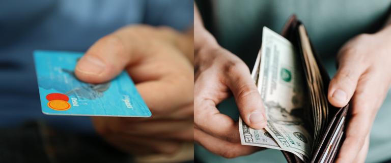készpénz vagy kártya